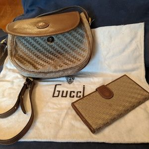 Gucci, vintage and authentic crossbody & wallet